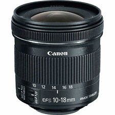 4th Of July Sale New Canon EF-S 9519B002 10-18mm F/4.5-5.6 STM IS EF-S Lens