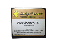 New Workbench System 3.1 on 4GB CF Card for Amiga 600 1200 Hard Drive HDD #589