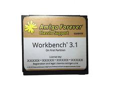 New Workbench System 3.1 on 4GB CF Card for Amiga 600 1200 Hard Drive HDD #589