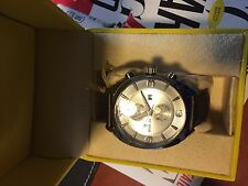 NEW Invicta 12206 Men's Vintage Silver Tone Dial Quartz Brown Leather Watch