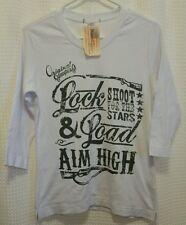 Original Cowgirl Clothing NWT Sz S Lock&Load Aim High Shoot for the Stars Shirt