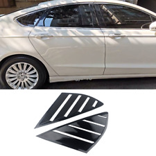Bright black Side Vent Window Scoop Louver Trim For Ford Fusion Mondeo 2013-2018