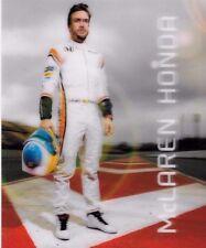 """Frenando Alonso  McLaren Honda  3D Promo Card  2017   """"Superb Quality"""""""