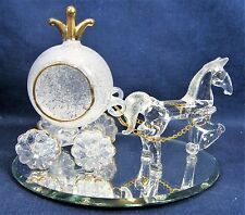 Horse and Fairy Coach Hand Blown Glass Fantasy decor Figurine