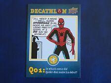 2017 UD Spider-Man Homecoming Decathlon SD1 Spiderman WALMART EXCLUSIVES
