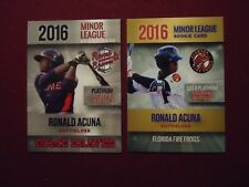 (2) Ronald Acuna Jr 2016 Rookie Phenoms Gold Platinum Rome Braves & Fire Frogs