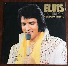 Elvis Presley, un álbum homenaje canadiense, Lp 33, Excelente Estado Vintage