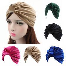 donna stile indiano velluto Turbante cappello BANDANA Chemio Fascia per capelli