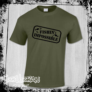Funny Fishing Impossible Men's T-Shirt Novelty Fisherman Koi Carp Present Gift