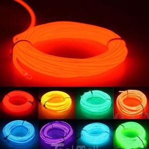 1M Flexible EL String Strip Light Flash Flexible Neon Glow Tube Wire Rope