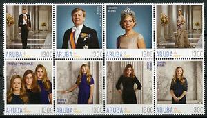 Aruba Royalty Stamps 2018 MNH Dutch Royal Family King Willem-Alexander 8v Block