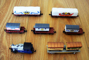 Model power Tank Loco with Circus Car and Trailer, German