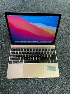 "Apple MacBook 12"" Laptop (2017) Rose Gold 1.2GHz 8GB 256GB - Stiff Tracpad"