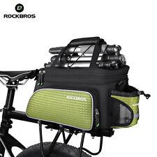 Rockbros MTB Road Bicycle Bike Bags Rear Carrier Bag Rear Pack Pannier Green