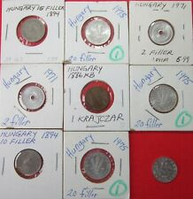 New listing Hungary. Vintage Lot Of 9 Coins. See Pics.