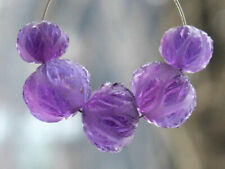 Natural African Amethyst Hand Craved Rondelle Semi Precious Gemstone Beads