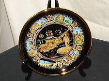 Fatto a mano in Grecia Piatto Decorativo 24 K oro Cipro L'ISOLA DI VENERE