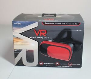 Vibe Essential VR Virtual Reality Headset Red.