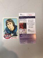 Bert Jones Autograph Signed 1976 Topps Card #525 Auto JSA