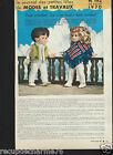1970 Page Poupée marie francoise Michel Modes et Travaux 193 Mini Patron au dos