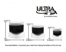 300 pcs Tattoo Pigment ULTRA INK CUPS 3 Sizes #16 #20 #24 Plastic Clear Supplies