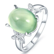 New Lady Vintage Jewelry  Silver butterfly Charm Round Emerald Ring Size  6