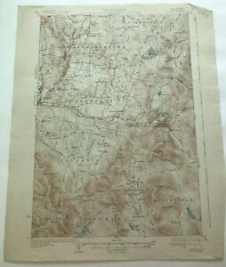 1934 Geological Survey Topographic Map NH Columbia Colebrook & Stewartstown