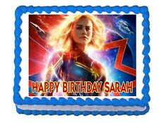 Batman Marvel superhéroe Birthday Cake Topper Personalizado azúcar glas A4 imge A4