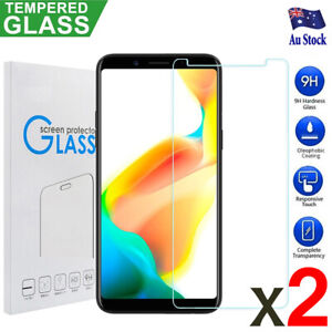 2 X Genuine Tempered Glass Screen Protector For Oppo A57 A73 A77 R11S Plus F1S