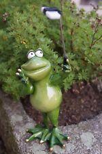 Kunstharz Frosch Charly mit Selfistick 27 cm Grün Dekofigur