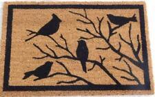 Natural Doormat Birds on Branches Front Door Welcome Mat Coconut Fibre 60x40cm