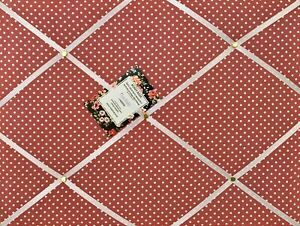 SALE Dark Pink Polka Dot Handcrafted Fabric Notice Pin Memo Board Photo 40x30cm