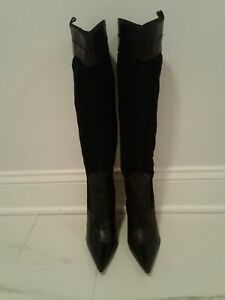 GORGEOUS CHARLES DAVID LEATHER & SUEDE OVER THE KNEE BOOT.  SIZE 8B.