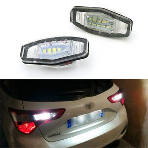 2X LED Number License Plate Lights Error Free 6000K for Honda Accord Civic MR-V