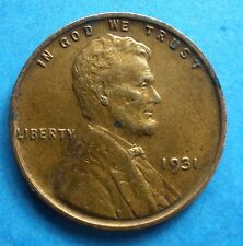 *1931-P* Lincoln Wheat Cent copper Free Shipping