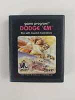 Dodge Em (1978 Atari) Atari 2600 Vintage Video Game Cartridge
