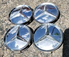 Set of 4 Aftermarket Mercedes-Benz w126 w140 r129 CHROME Wheel Center Caps #B