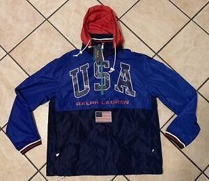 Ralph Lauren Polo USA United States Olympics jacket Windbreaker Men's Sz S