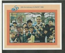 Guyana, Affrancatura Francobollo, #3027 Foglio come Nuovo Nh , 1996 Unicef