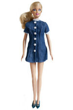 Barbie Fashion Dress -  Blue Denim Shirt Dress - Fits Barbie Doll