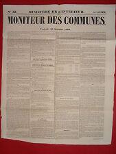 JOURNAL LE MONITEUR DES COMMUNES MINISTERE DE L'INTERIEUR N°52 28 DECEMBRE 1866