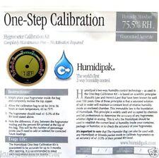 CALIBER IV ROUND ADJUSTABLE DIGITAL HYGROMETER  W/BONUS 1 STEP CALIBRATION KIT