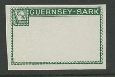 Guernsey SARK 1966/7  Frame PROOF dark green with gum