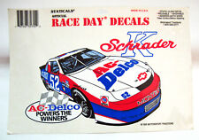KEN SCHRADER #52 AC-Delco Race Day Decals Static Cling by Motorsport 1995 Unused