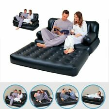 Double Sofa Couch Flocked 5in1 Inflatable Multi-Functional Air Bed Mattress