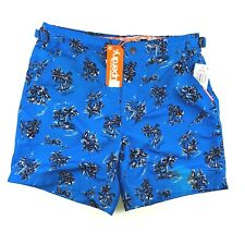 ce3ee5133a Superdry International Swim Shorts Mens Medium Blue Adjustable Tabs A72-02