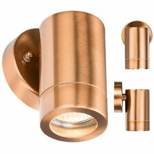 MLA 230V IP65 GU10 35W Fixed OUTDOOR PORCH GARDEN WALL LIGHT COPPER COLOUR