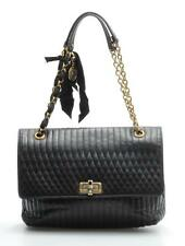 Lanvin Happy GM Handbag Big Quilted Black Leather 100% Authentic