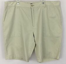Micheal Kors Men's Size 38 Beige Flat Front 10 Inch Inseam Shorts Used