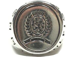Fantastic Men's Solid Sterling Silver 'Tommy Hilfiger' Ring - Size 9